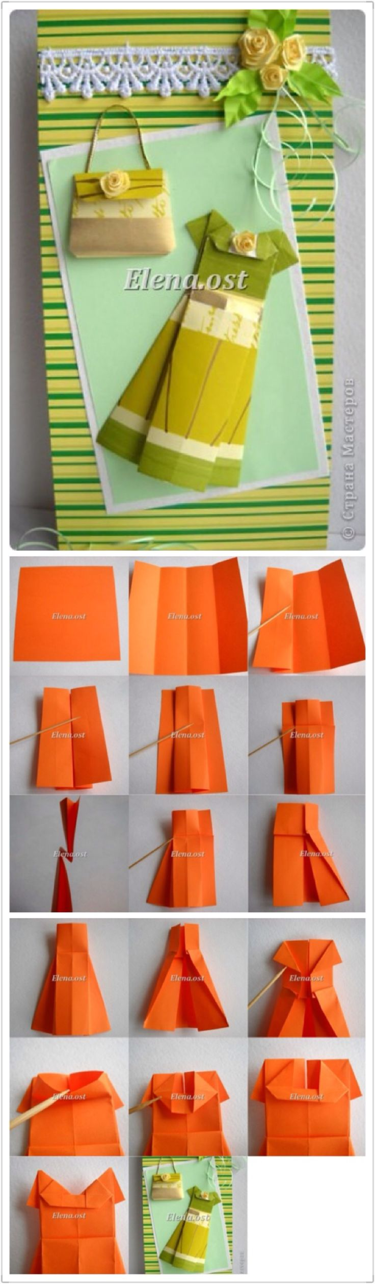 [Hand-up a la gente que hace el vestido origami gráfico]