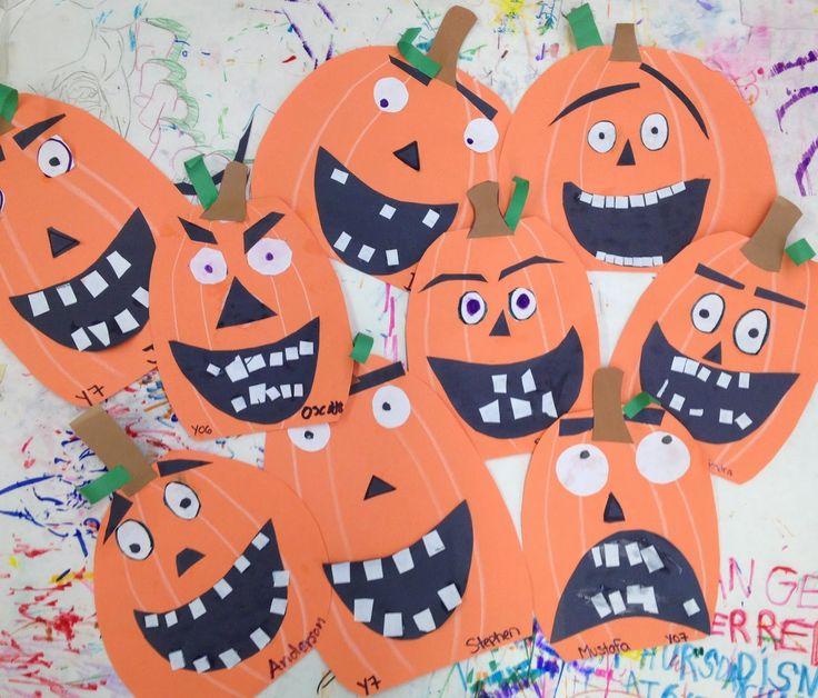 Pumpkin Art Lesson - Halloween, Fall - Jack o Lanterns - Special Education - focus on fine motor skills