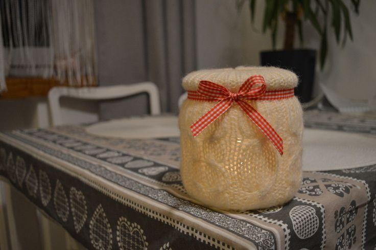 DIY - świecznik z wełny. Christmas wool lantern