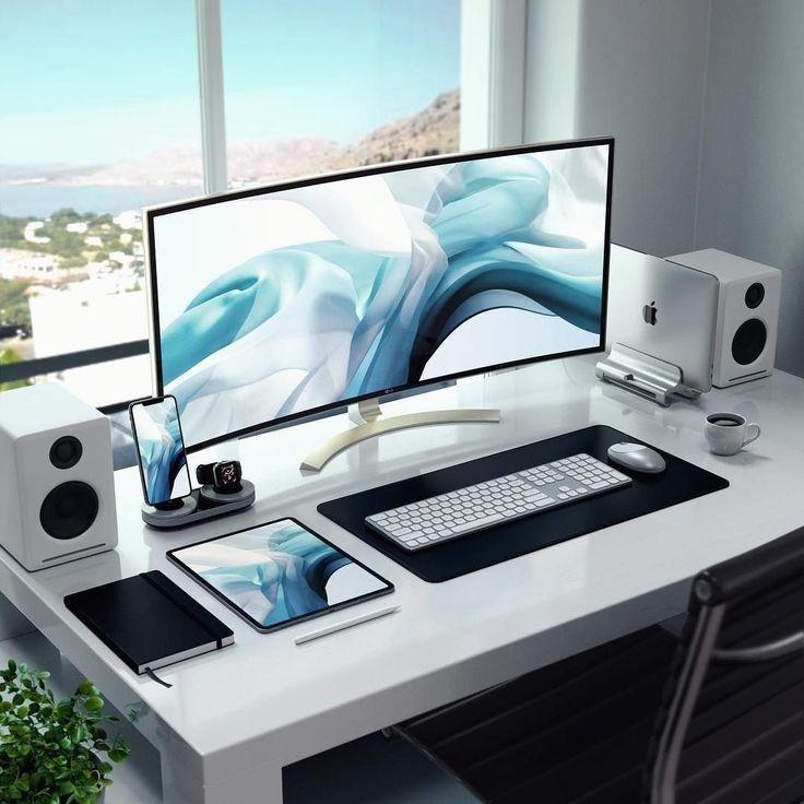 Best Office Desk Setup Gaming Design Ideas Inspiration Modernoffice Bestofficedesk Computer Desk Setup Home Office Setup Cool Office Desk