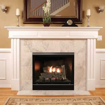 Vented gas fireplace insert and Napoleon gas fireplace