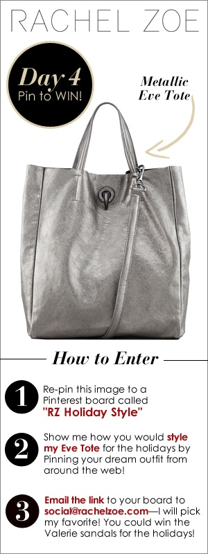 Rachel Zoe Metallic Eve Tote that I hope I win!!!