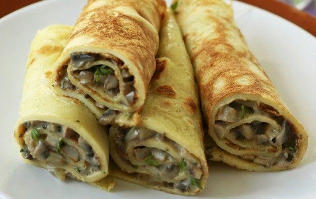 Κρέπες με μανιτάρια και μπλε τυρί -δείτε τη συνταγή εδώ http://www.parousiasi.gr/?page_id=71556