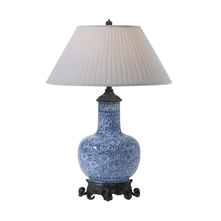 Shop for theodore alexander dynastic lamp and other lamps and lighting at pala brothers in wilmington de a blue and white gourd shaped ceramic table lamp