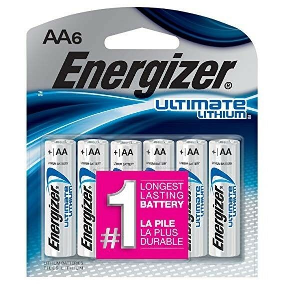 36x Aa Energizer Ultimate Lithium Batteries 6x Aa 6 Packs L91 Energizer Battery Energizer Lithium Battery