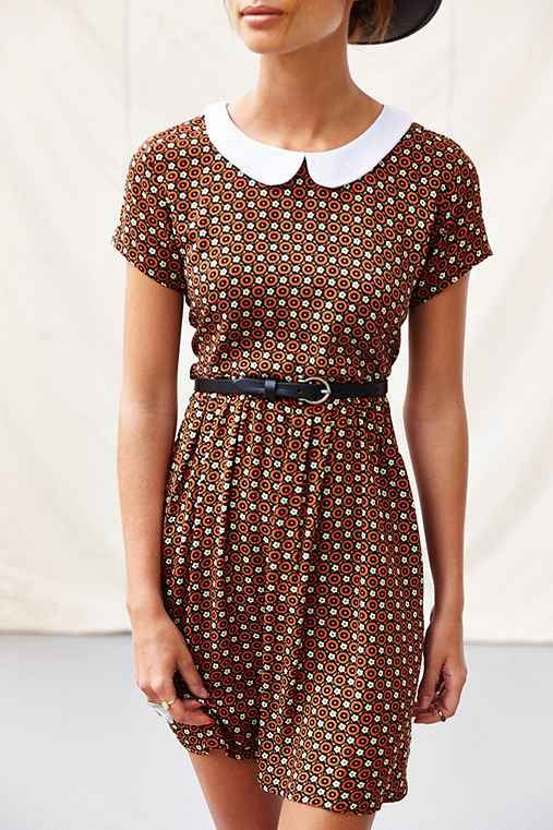 One & Only X Urban Renewal Collared Babydoll Dress - Urban Outfitters