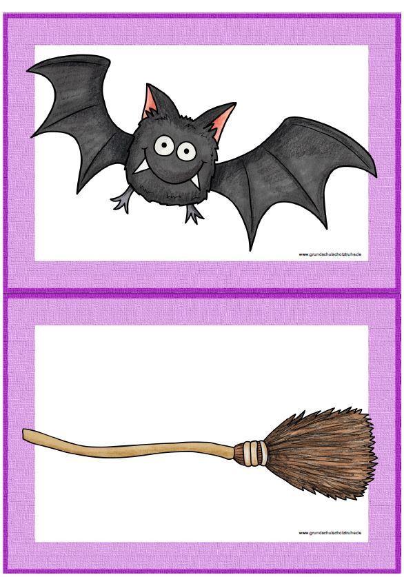 Minithemenpaket Halloween Englisch Grundschule Flashcards Spiele Freiarbeitsmat