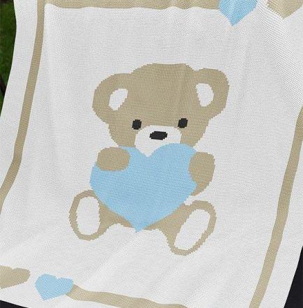 Knitting Pattern | Baby Blanket / Afghan - Sweet Heart