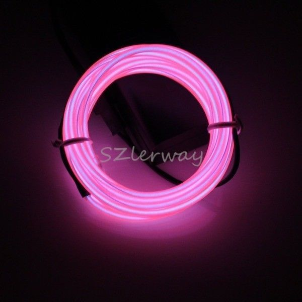 3M Rope Pink LED Fairy Light Strip EL Wire Cable for New Year Party Decoration #BrandNew