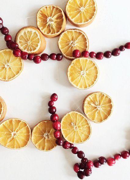 Orange & Cranberry Garland - Clementine Daily Instagram