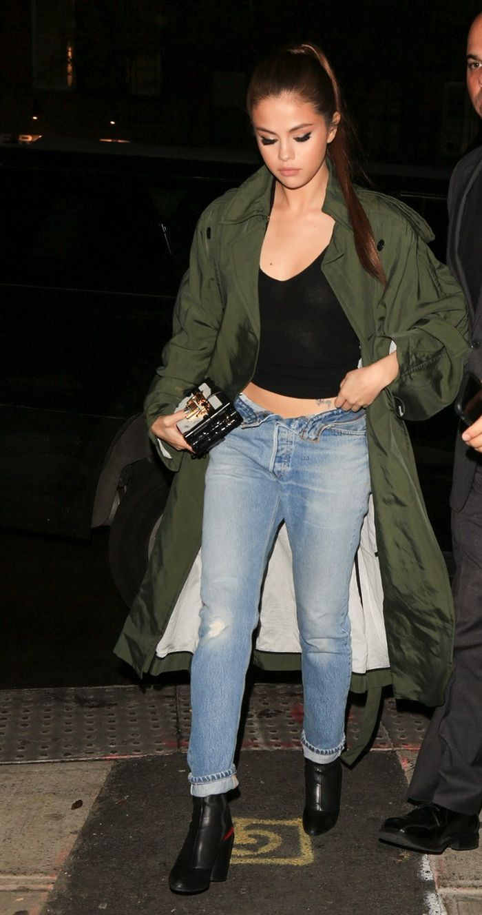 So, is good-girl Selena Gomez finally getting the message and showing some spunk in her outfits? We have spotted her in cool denim quite a lot of times