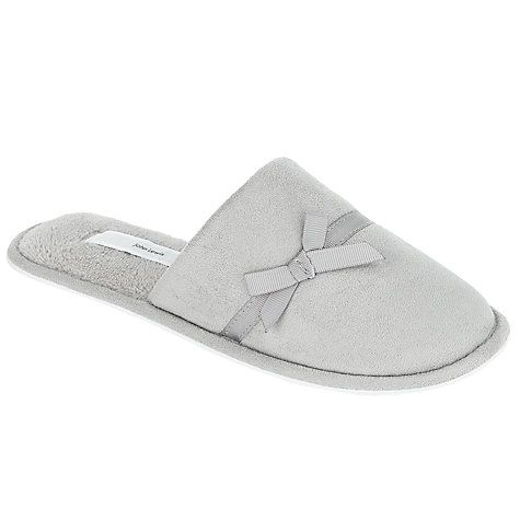 Buy John Lewis Microsuede Mule Slippers, Grey Online at johnlewis.com