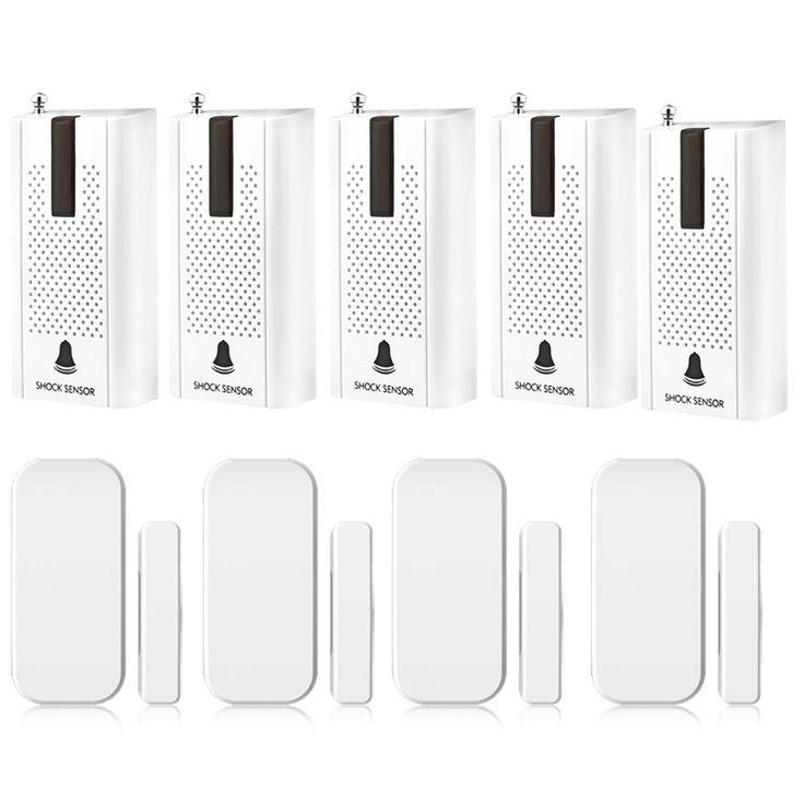 433MHz Wireless Vibration Breakage Door Sensor Window Breaking Alarm & Intelligent Wireless Door Gap Window Sensor Detector