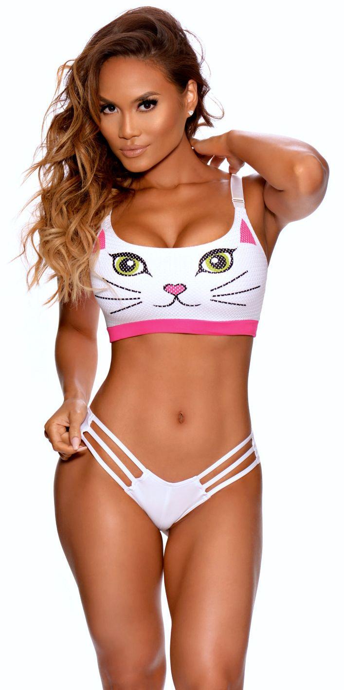 I wanna be PURR-FIT! Kitty Sports Bra