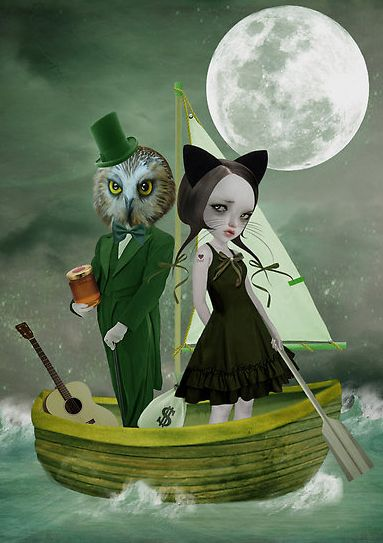 35 best the owl and the pussycat images on pinterest owls owl and tanya mayers the owl and the pussycat set to sea in a beautiful pea green boat fandeluxe Choice Image