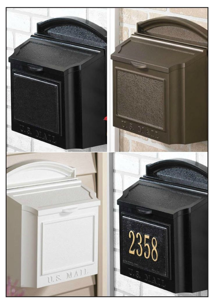 Make a big impression with this colonial-style wall-mount mailbox at the entrance of your home. The traditional style is perfect for just about any entryway.