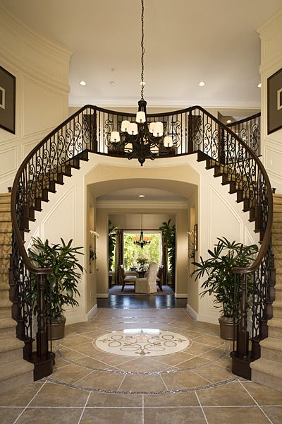240 best stairs images on pinterest stairs architecture for Double curved staircase