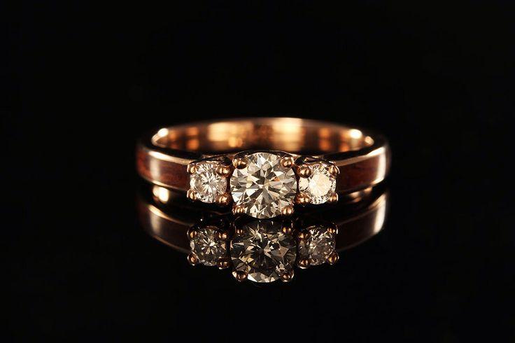 14K Rose Gold Wood Engagement Ring by chasingvictory on Etsy https://www.etsy.com/listing/248711282/14k-rose-gold-wood-engagement-ring