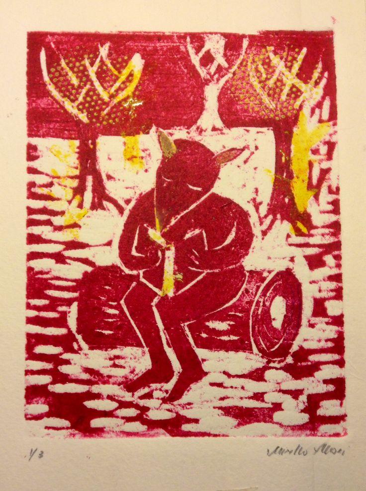 Xilografia. Engraving. Mirella Musri