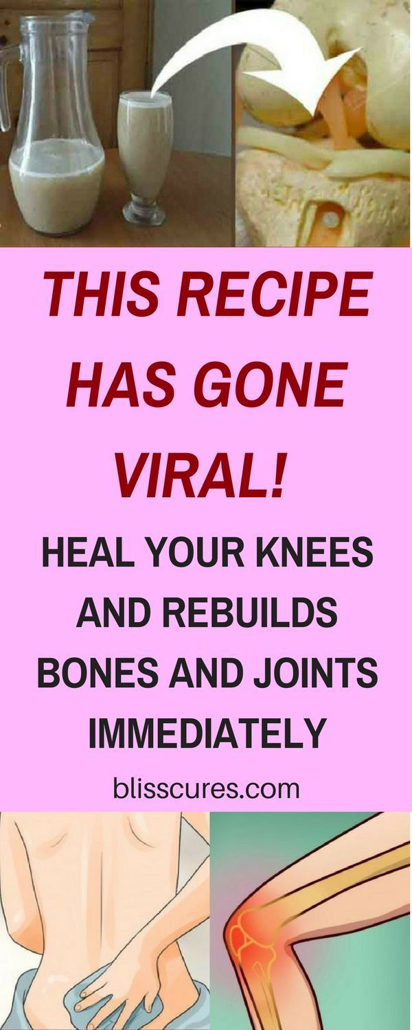 THIS RECIPE HAS GONE VIRAL! HEAL YOUR KNEES AND REBUILDS BONES AND JOINTS IMMEDIATELY