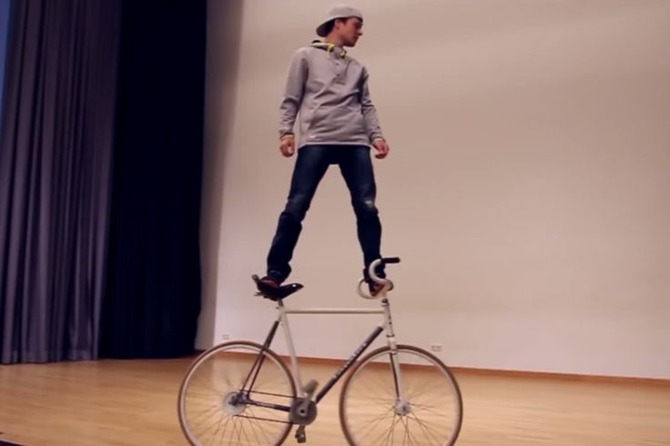 Warning: Epic bike stunts; do not try at home