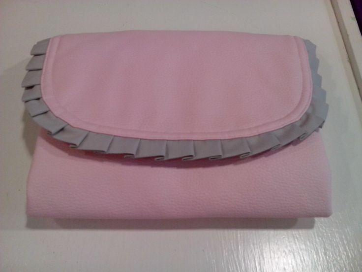 bebetecavigo.Cambiador de polipiel rosa.bebetecavigo.