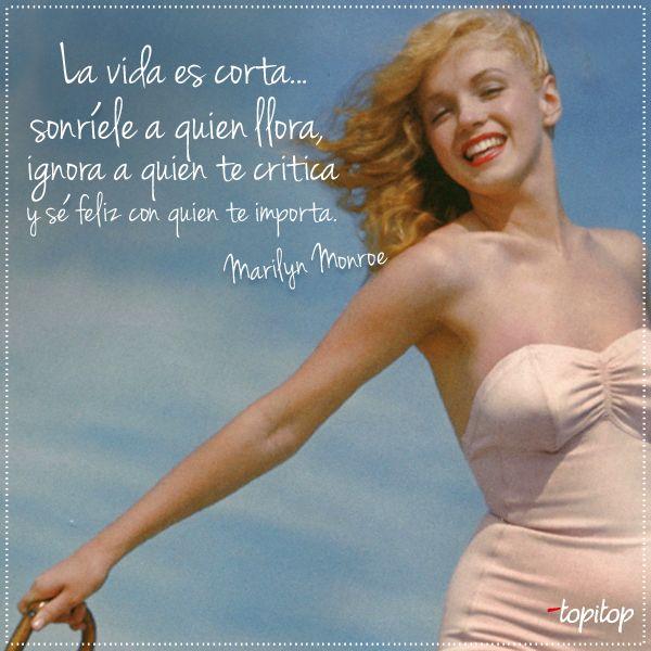 ¡Empieza la semana con una frase de la bellísima Marilyn Monroe!