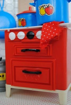 mini fogão Apetrechos de cozinha de Bonecas anos-70,