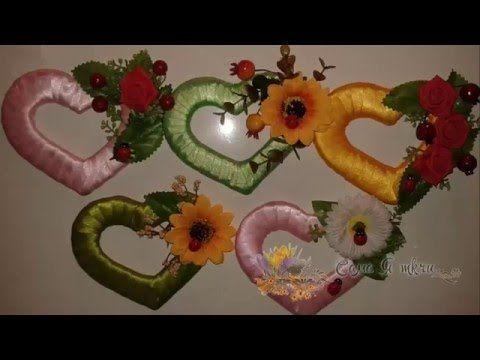 Сердечки-магниты из картона и лент своими руками /Сама Я mk.ru - YouTube