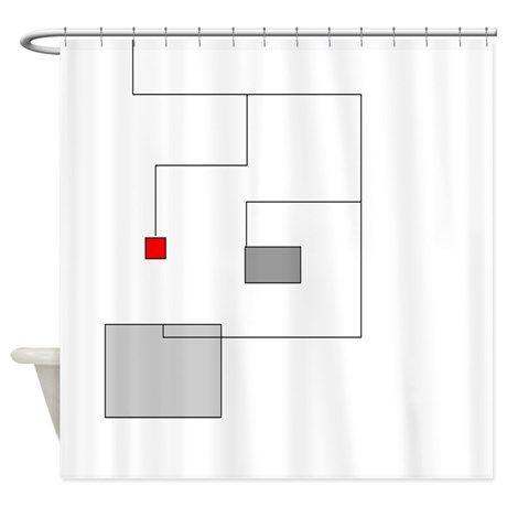 Modern Minimalist Shower Curtain on CafePress.com