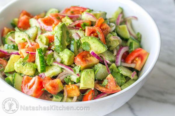 Receita de Verão: Salada de Tomates, Pepino e Abacate!