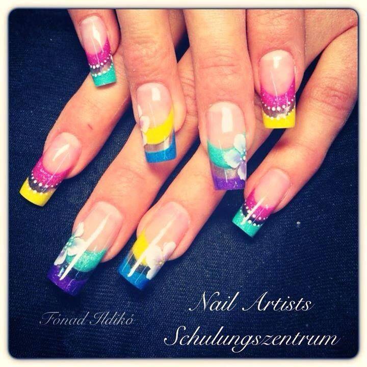 #Tavaszi #színes #körmök / #Colorful #nails by Ildikó Fónad