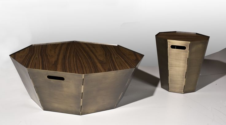 Coffee Table OCTAGON COFFEE Φ100 & Φ50 design by Manolis Giannouladis for #furnitureunico