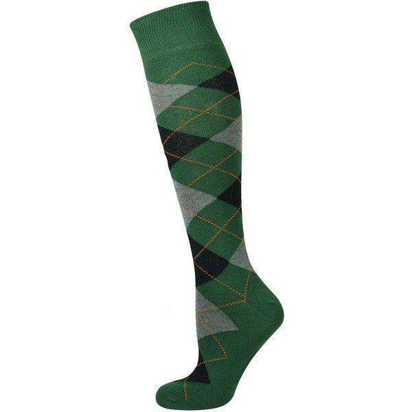 Mysocks Unisex Knee High Long Socks Argyle Green Ash Black Orange at... ❤ liked on Polyvore featuring intimates, hosiery, socks, orange argyle socks, green socks, long argyle socks, wide socks and green high socks