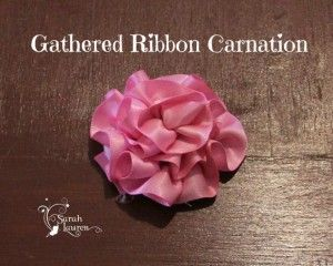 Ribbon Gathered Carnation
