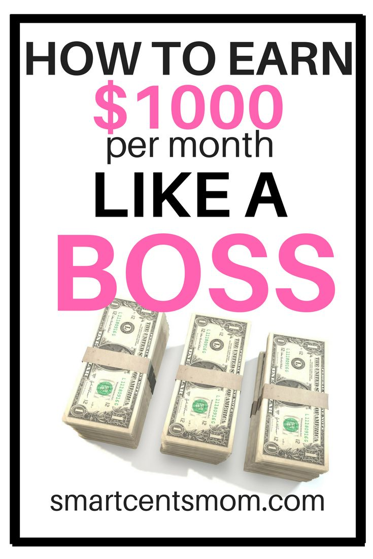If you could use some extra cash each month, then don't miss this list of 5 ideas for making $500 to $1,000 extra monthly. via @https://www.pinterest.com/smartcents/