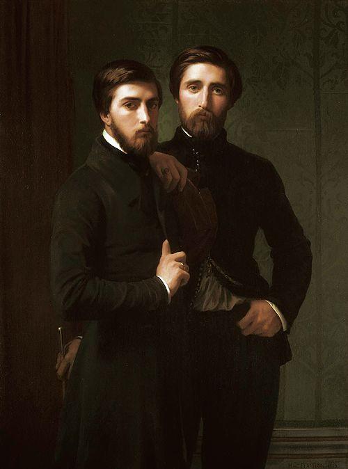 René-Charles Dassy and His Brother Jean-Baptiste-Claude-Amédé Dassy, by Hippolyte Flandrin (1809-1864), 1850