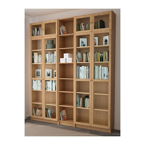 billy oxberg bookcase oak 200x237x30 cm inspiration. Black Bedroom Furniture Sets. Home Design Ideas