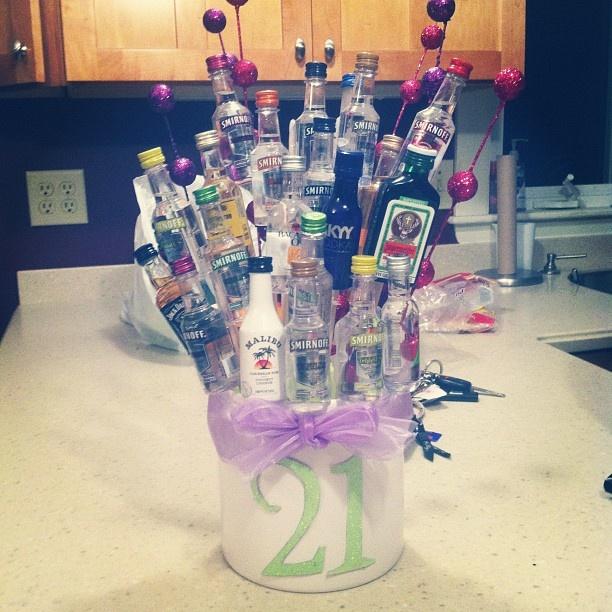 21st Birthday Nip Basket I Made
