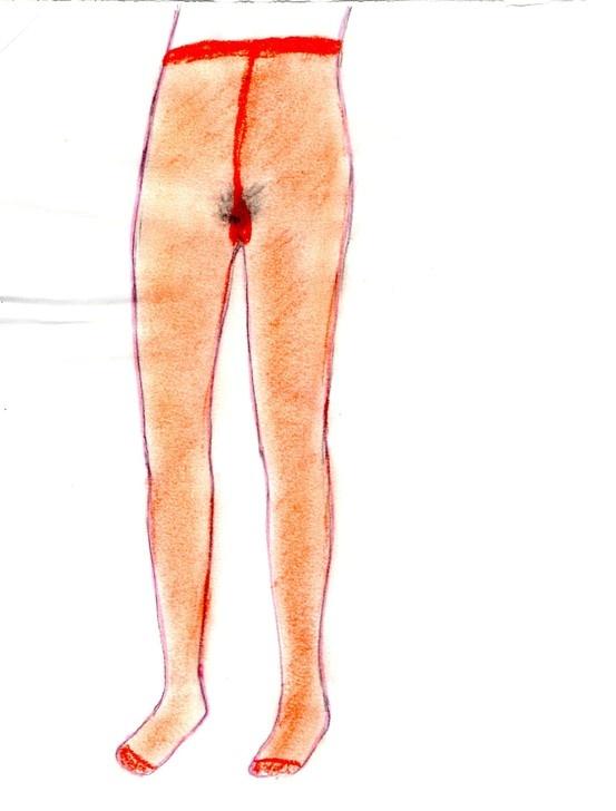 drawing by Rikke Hostrup, part of installation Leopoldina, Firenze 2001