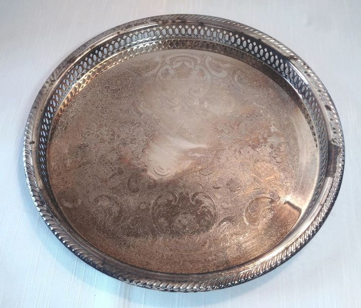 MARLBORO PLATE By Morton Parker Canada Round SILVER Plated SERVING TRAY 1993 #MortonParker