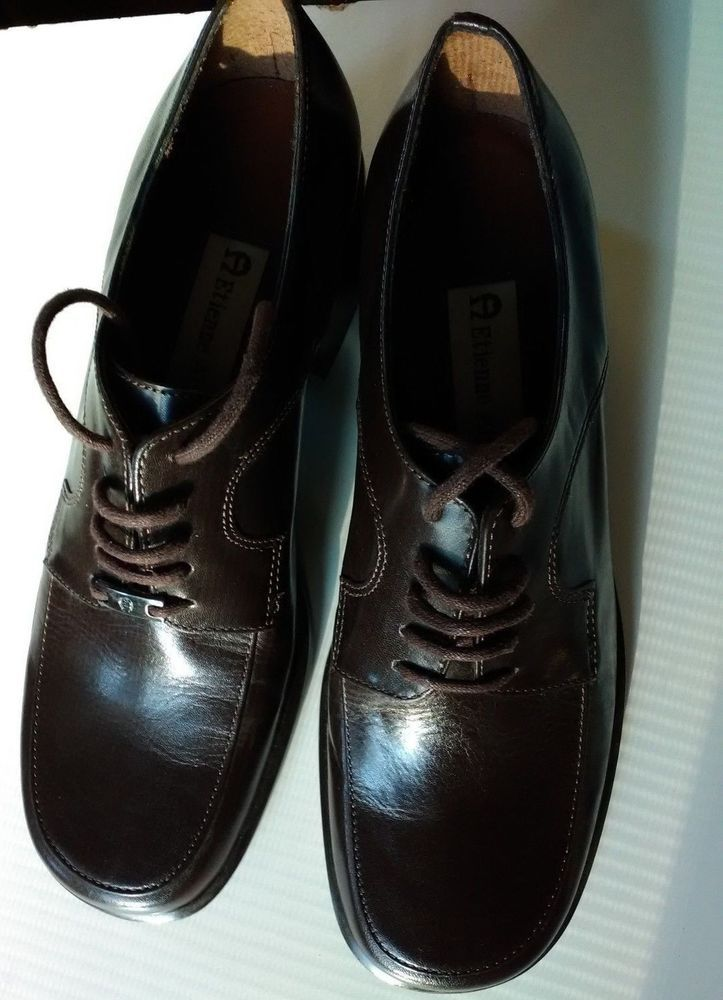 c36c801bb755 Ladies Etienne Aigner Duke Dress Lace-Up Brown Shoes Size 5.5 Medium ...