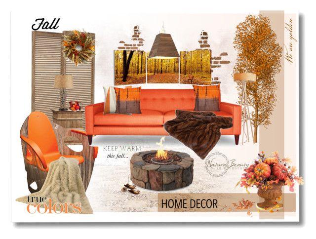 """Autumn Orange...."" by desert-belle ❤ liked on Polyvore featuring interior, interiors, interior design, home, home decor, interior decorating, Hodara, Elementem Photography, Belux and Bobby Berk Home"