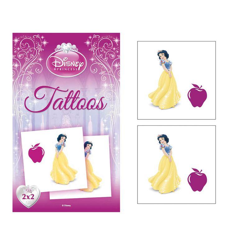 Set van 2 Disney Prinses tattoos. Verschillende uitvoeringen worden door elkaar geleverd.