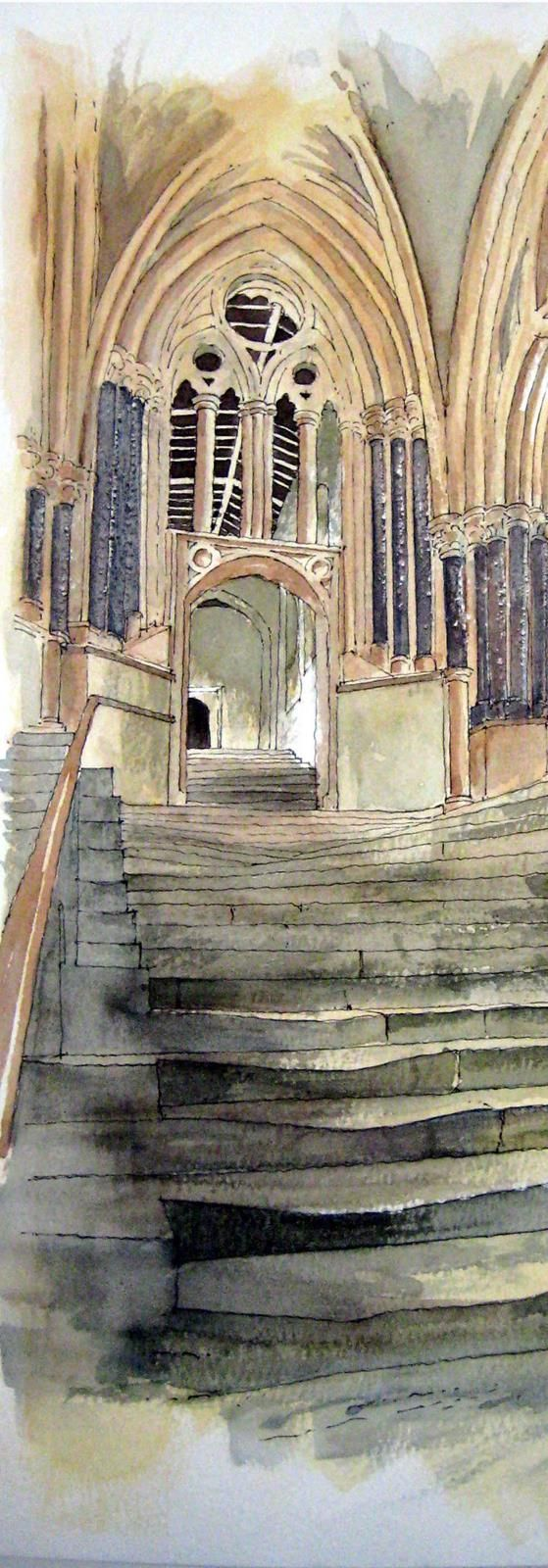 Wells Cathedral Steps ~ John Edwards