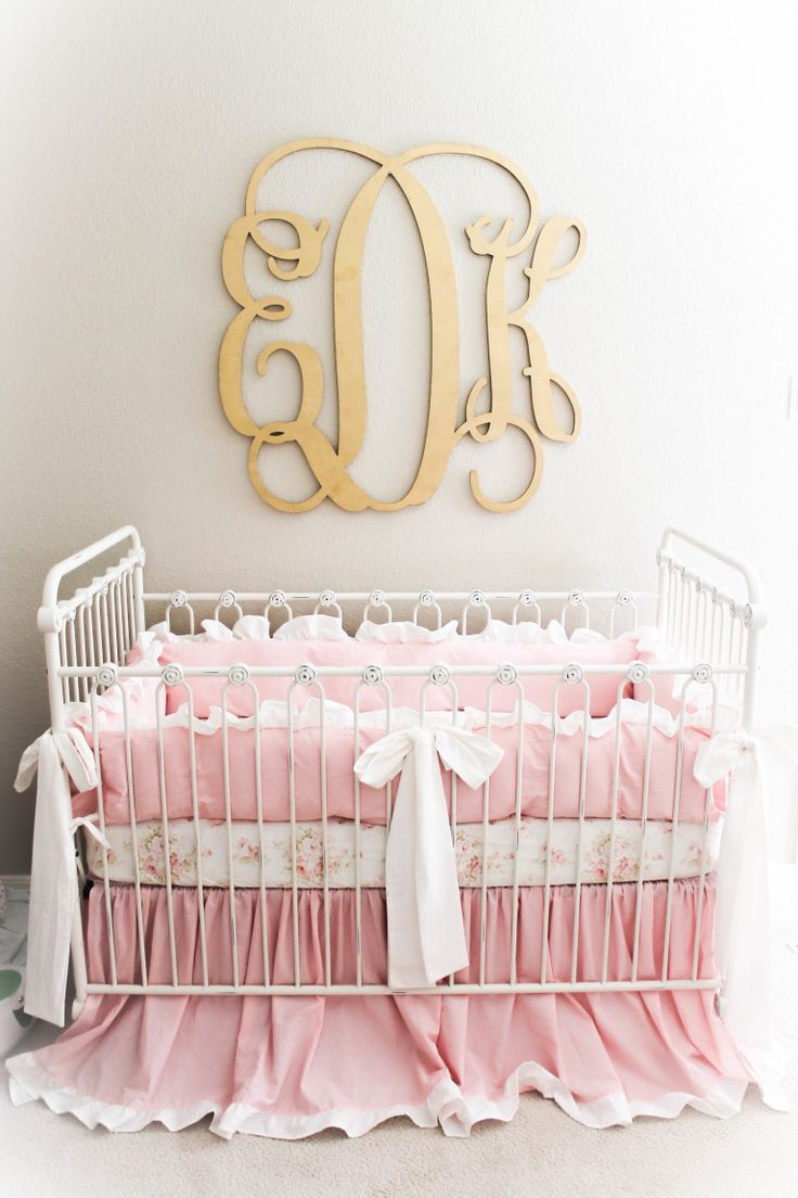 Pink mint and gray baby girl nursery project nursery - Everly Kate S Vintage Glam Nursery Baby Girl Nurserysproject