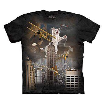 The Mountain Men's King Kitten T-Shirt Black M