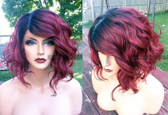 Hey, I found this really awesome Etsy listing at https://www.etsy.com/listing/251403073/usa-human-hair-blend-short-bob-wine-red