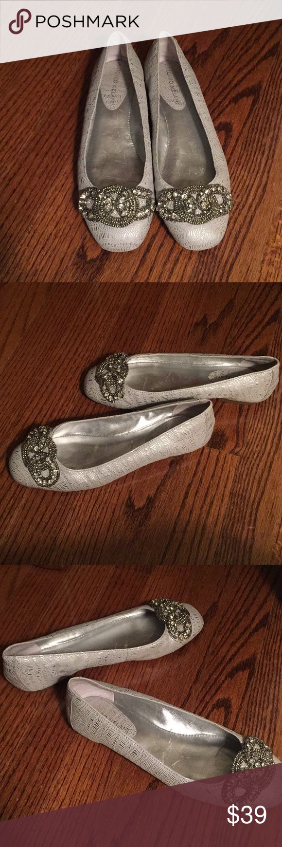 Antonio Melani Flats Antonio Melani Aviana flats. In great condition. Leather upper, man made lining, leather sock, man made sole. Embellished with rhinestones and beads. Made in Dominican Republic. Size 6.5 M. ANTONIO MELANI Shoes Flats & Loafers