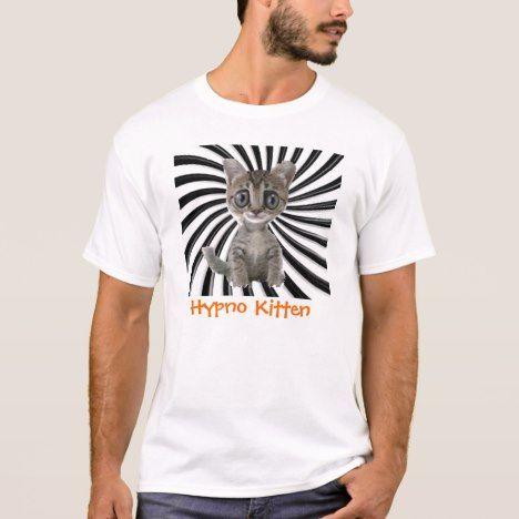 Hypno Kitten T-Shirt #cat #cats #kitten #catproducts